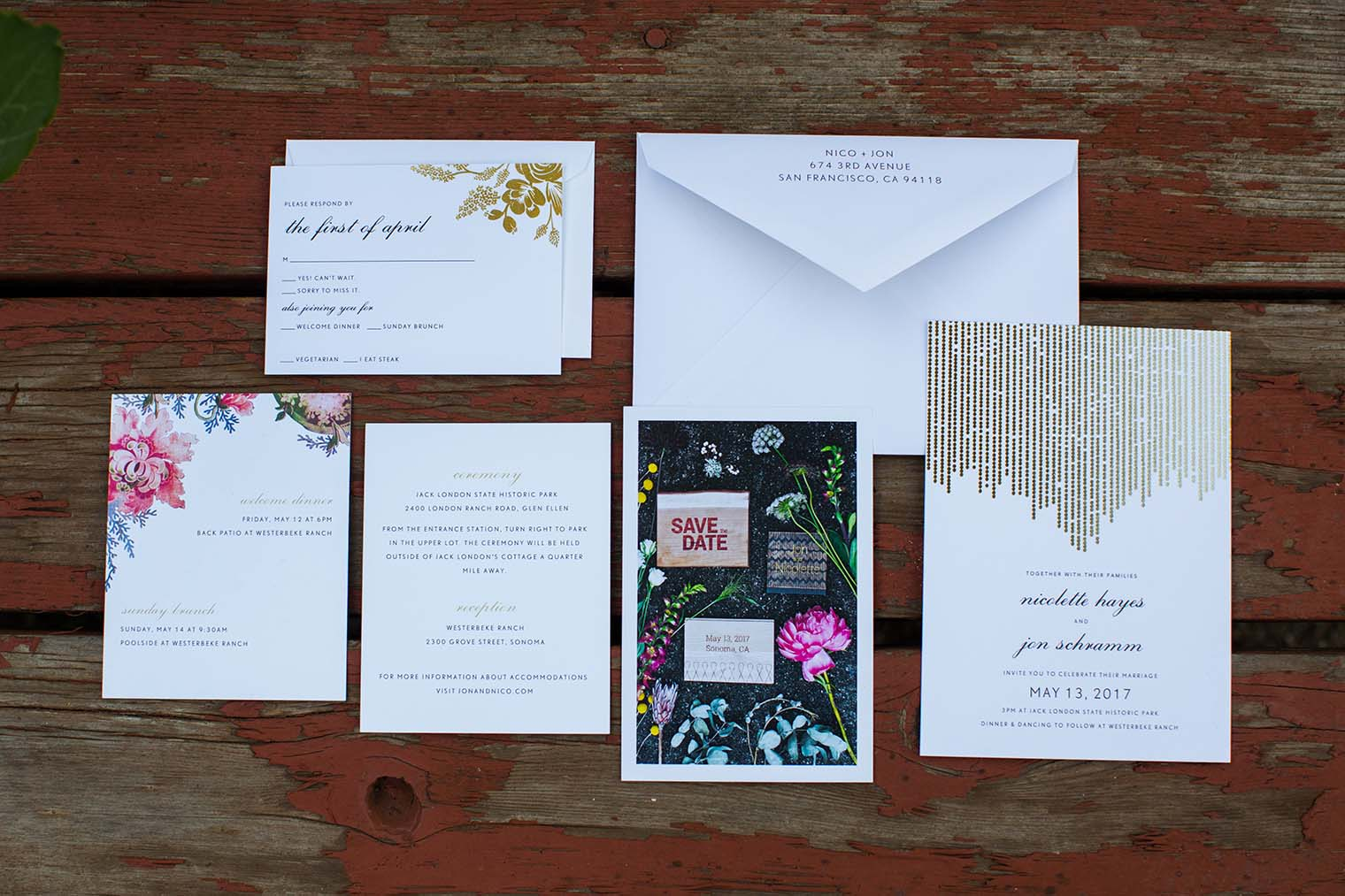 Details at Westerbeke Ranch Wedding