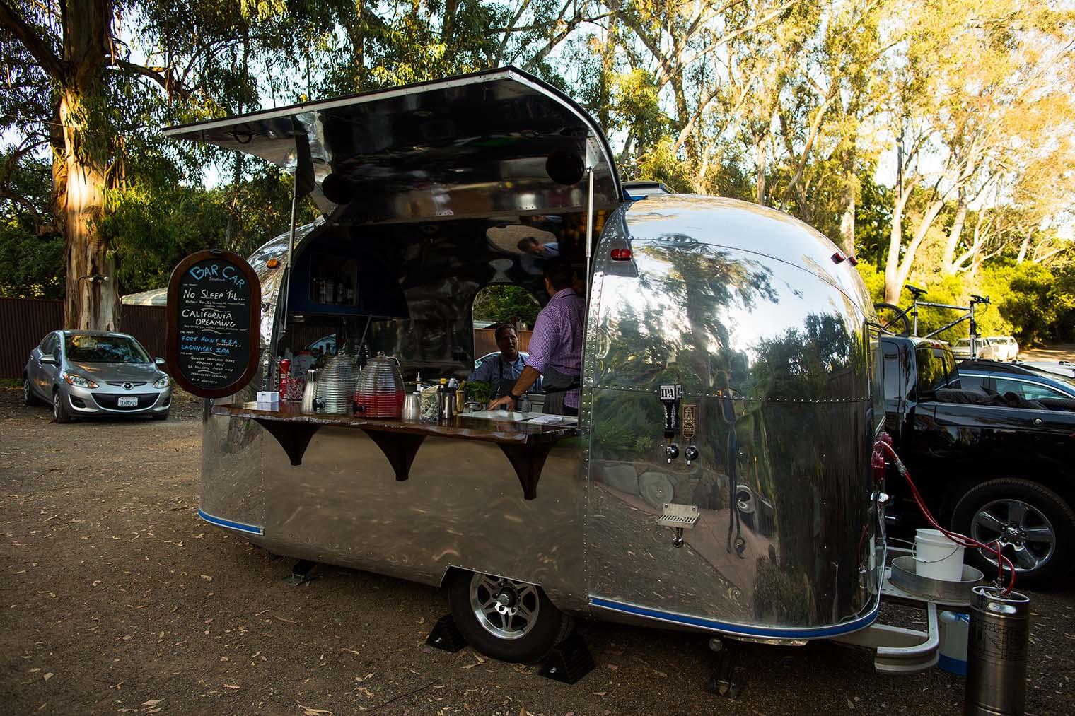 Bar Car at Westerbeke Ranch Wedding