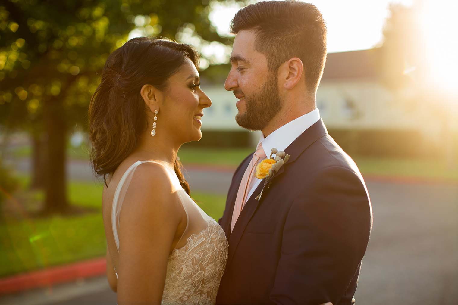 Bride and Groom Portraits at Chardonnay Golf Club and Vineyards
