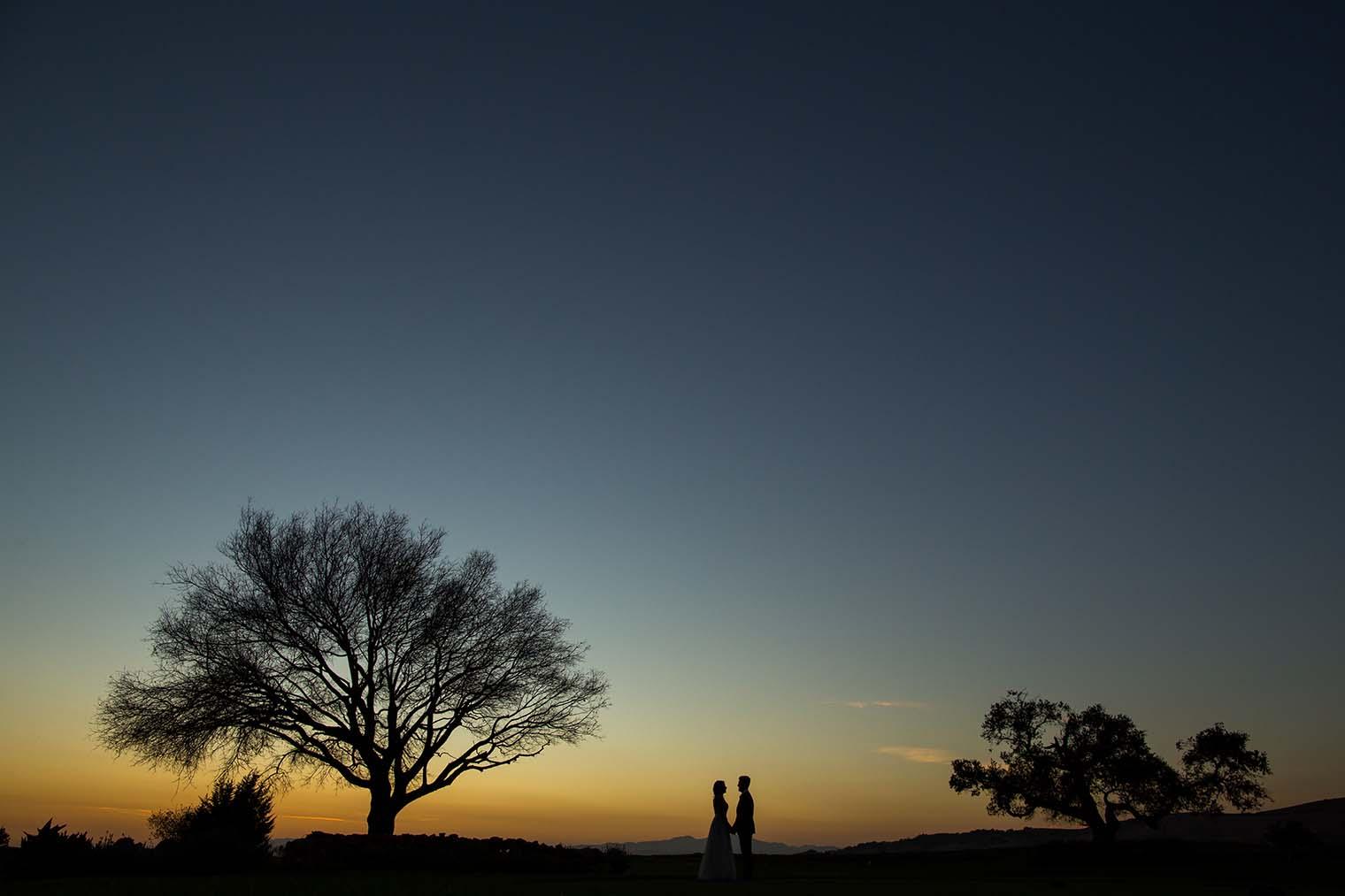 Chardonnay Golf Club and Vineyards Sunset Wedding Photos