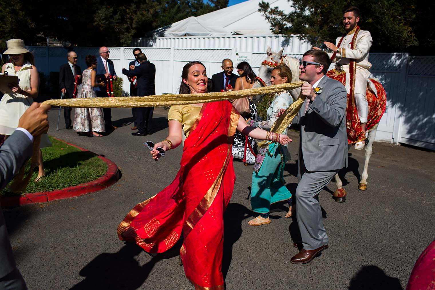 Indian Wedding Ceremony at Baraat Ceremony at Chardonnay Golf Club and Vineyards