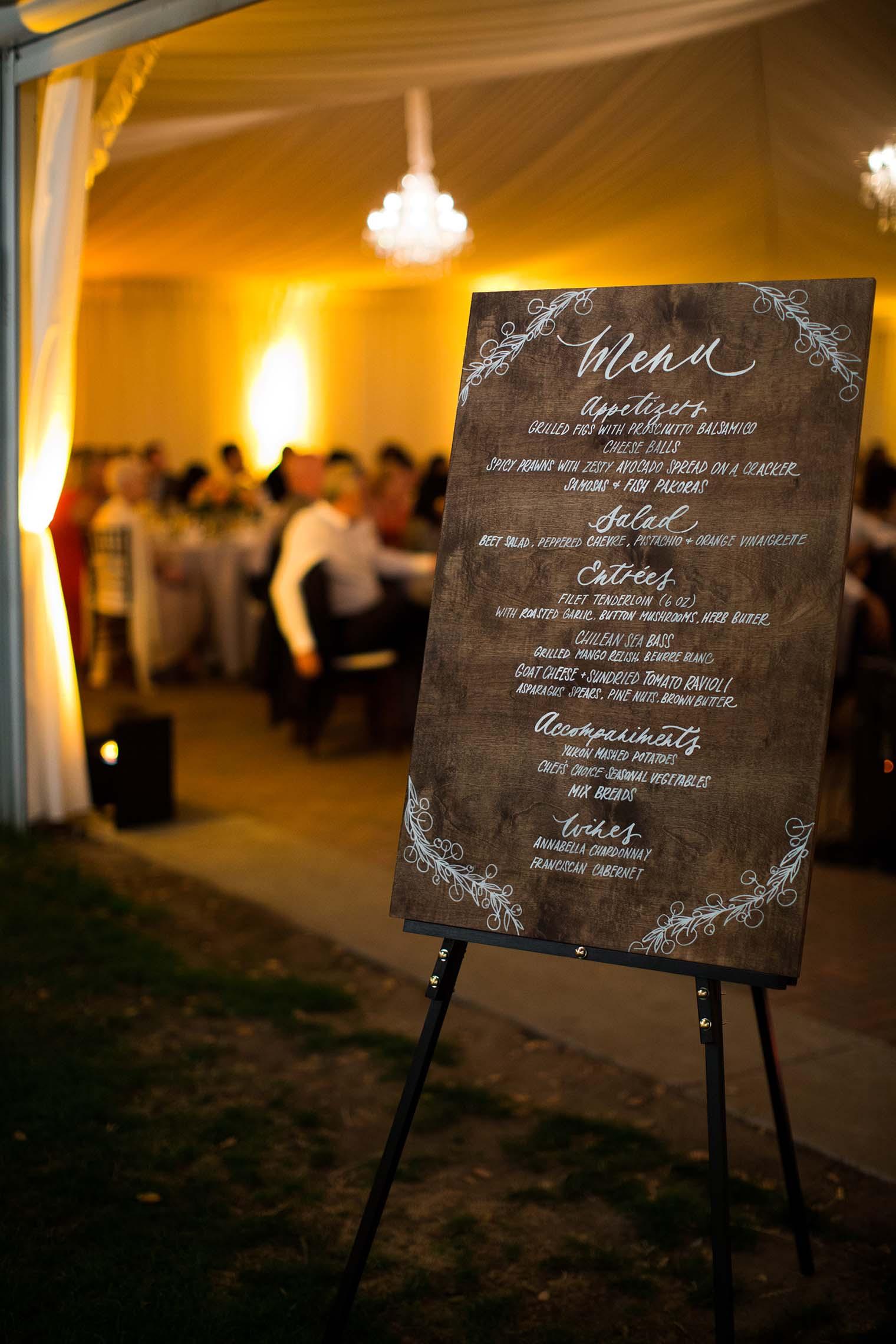 Wedding details at Chardonnay Gold Club