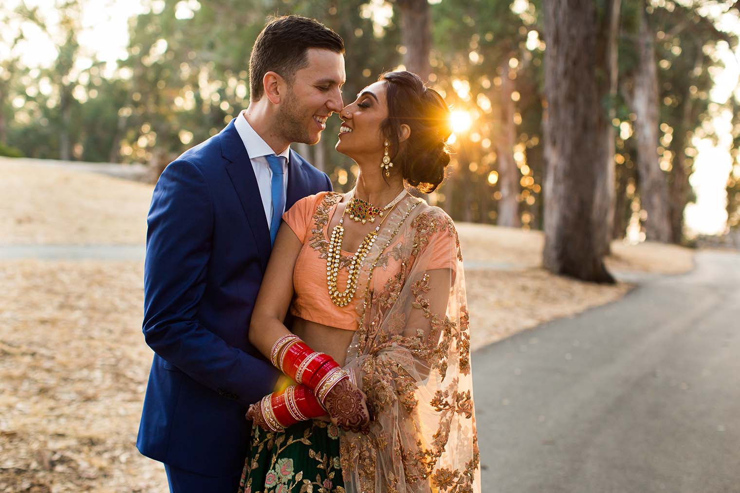 bride and groom portraits at curiodyssey in san mateo california