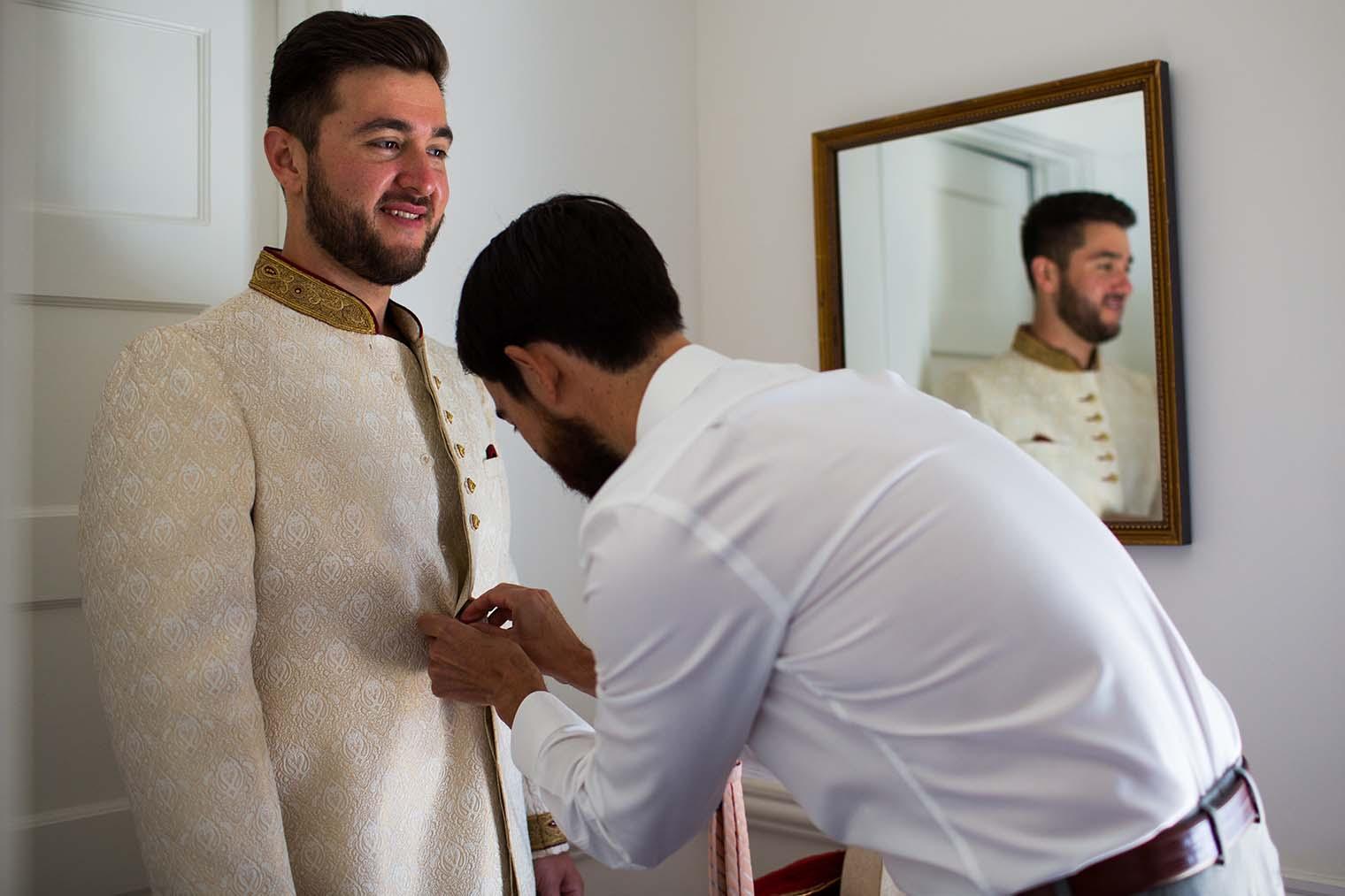groom and groomsmen in napa, ca