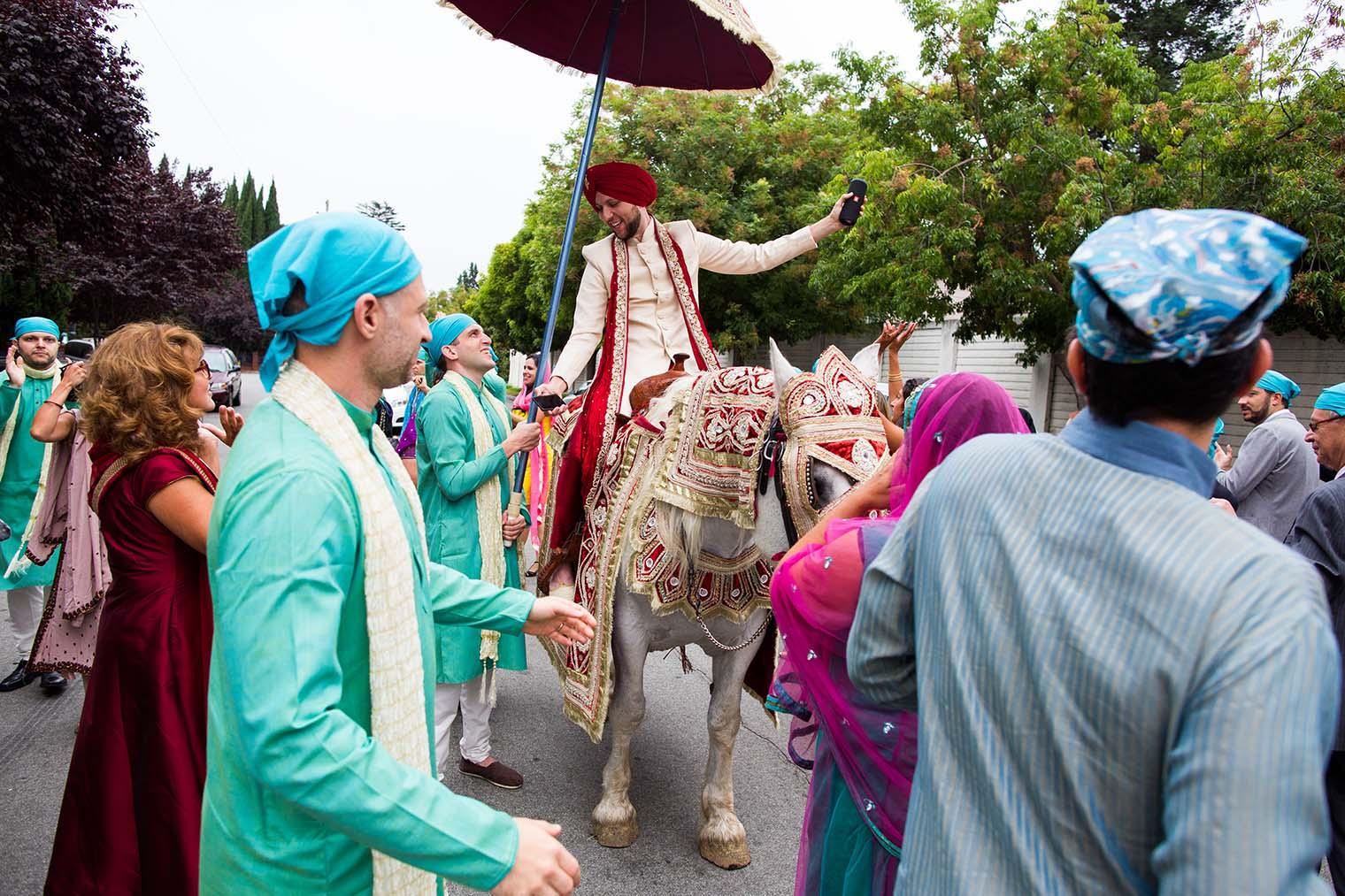 baraat procession at indian wedding