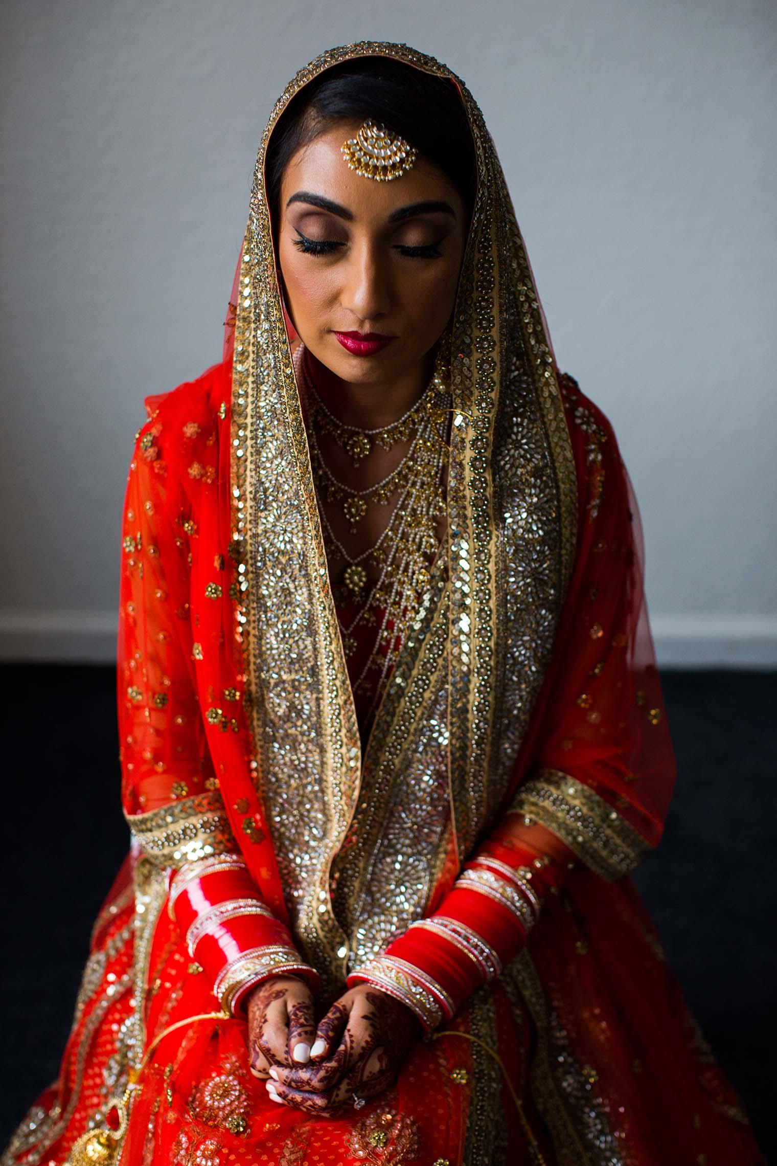 Indian Bride Portrait at Gurdwara Sahib of Fremont
