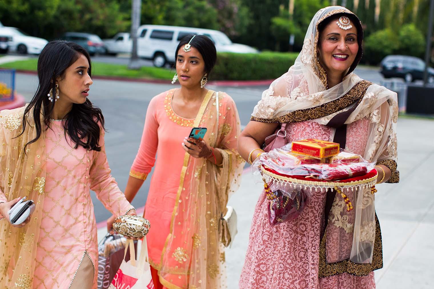 Wedding Guests at Gurdwara Sahib of Fremont