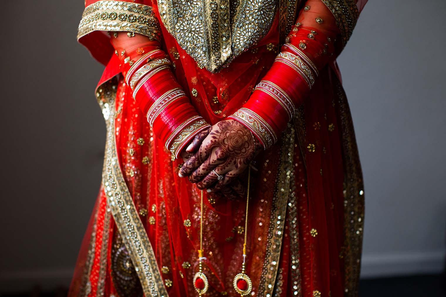Indian Bride Details at Gurdwara Sahib of Fremont