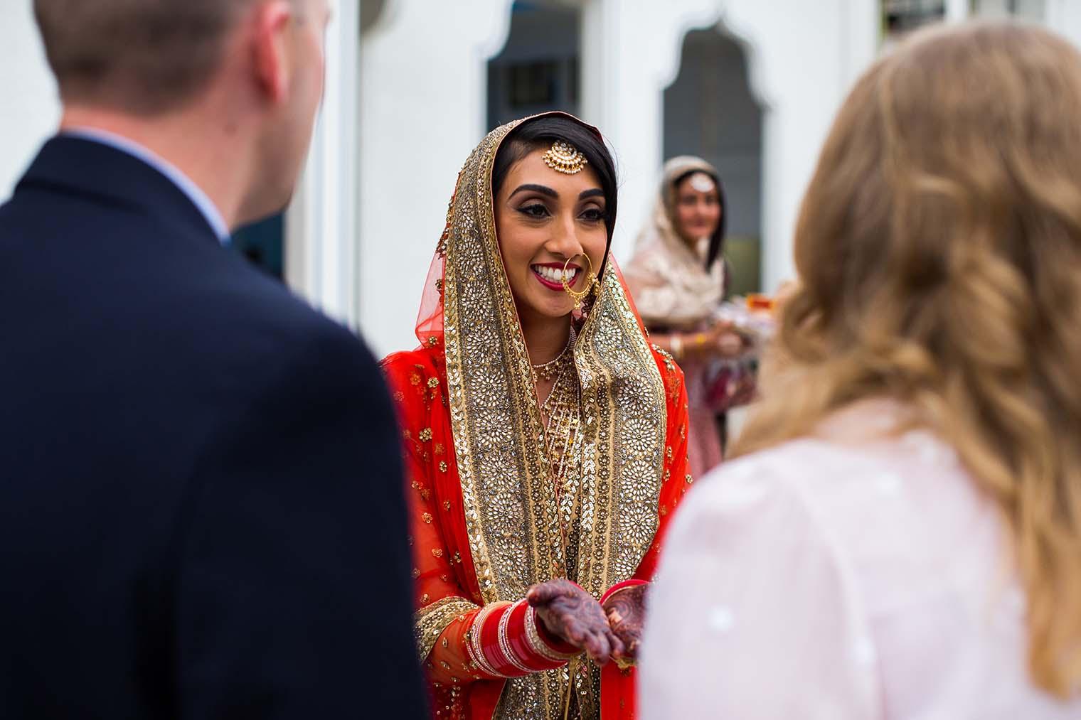 Bride at Gurdwara Sahib of Fremont Wedding