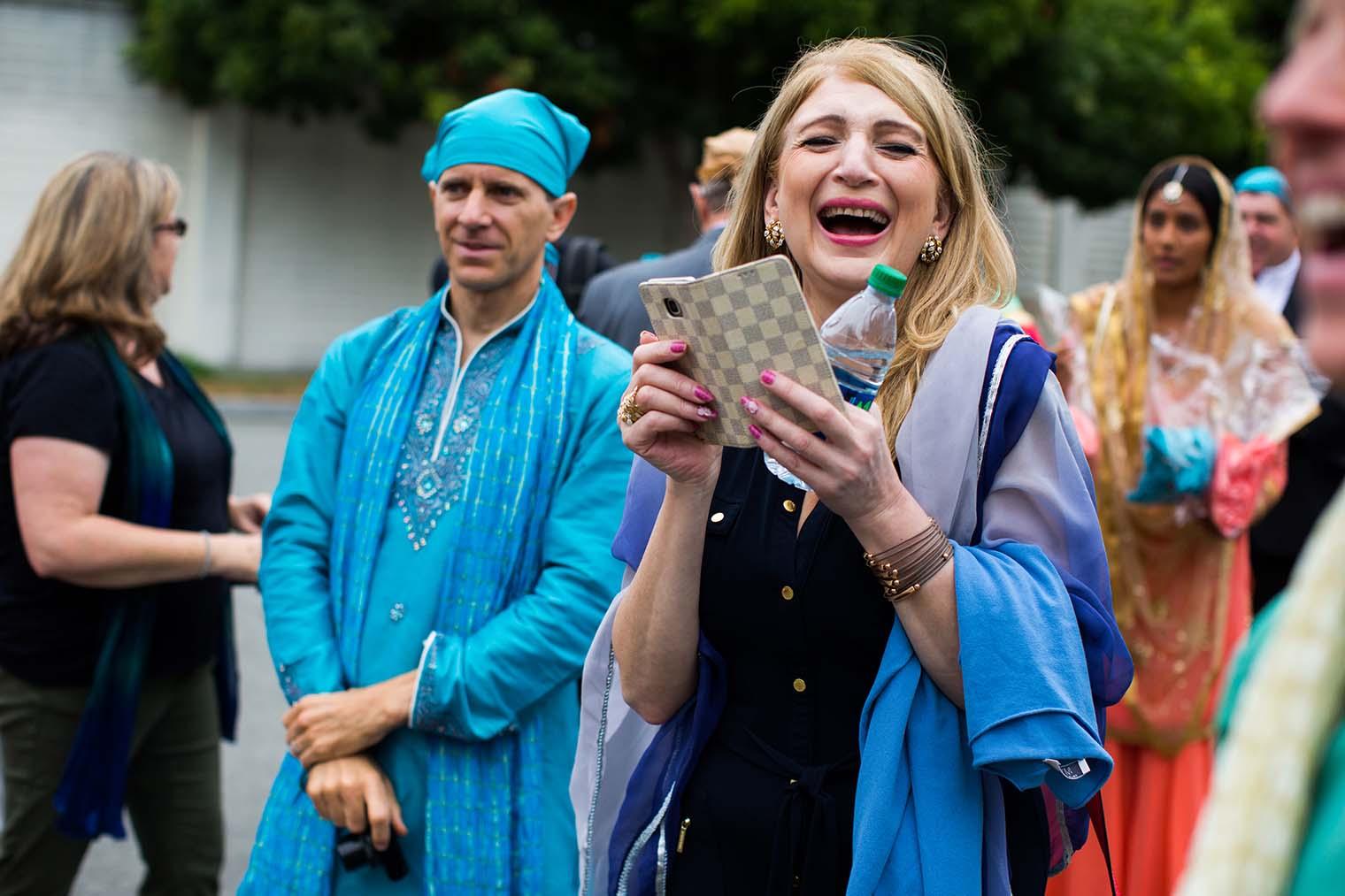 Candid Wedding Moments at Gurdwara Sahib of Fremont