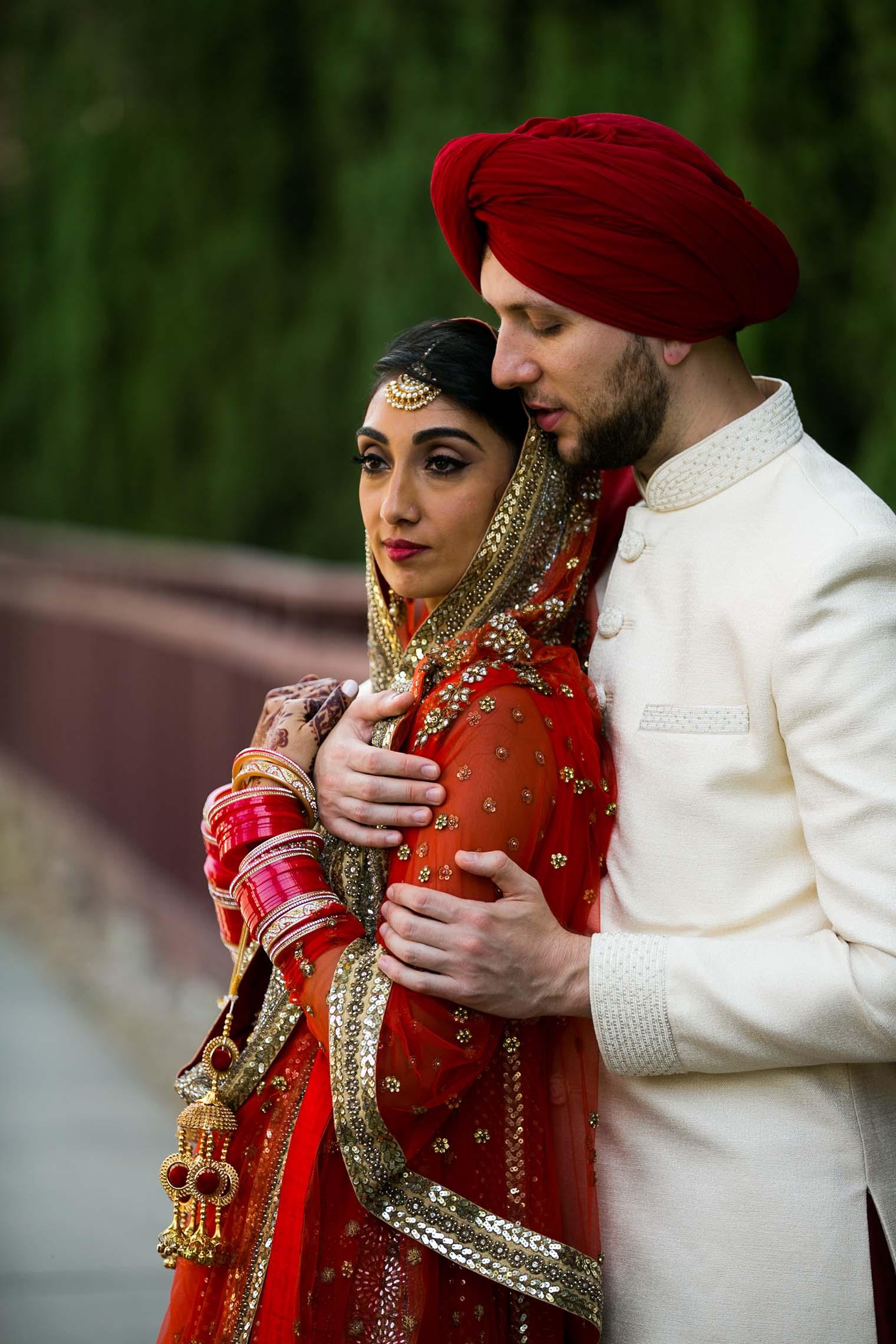 Bride and Groom at Gurdwara Sahib of Fremont