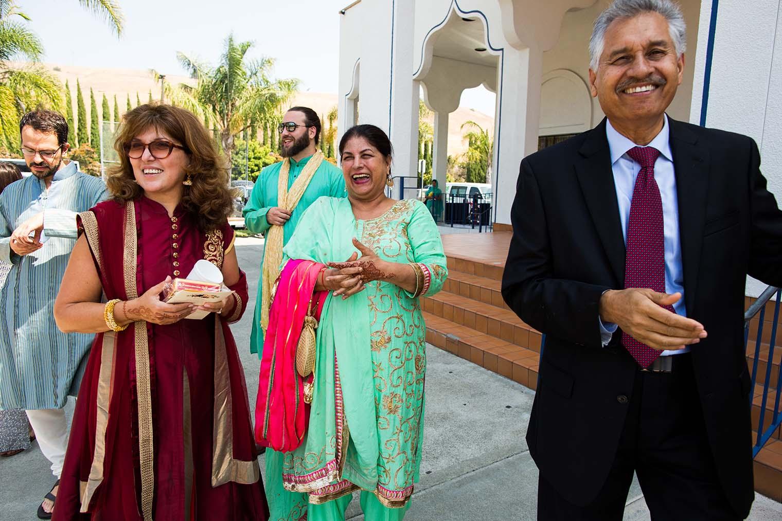 Bridal Party at Gurdwara Sahib of Fremont Wedding
