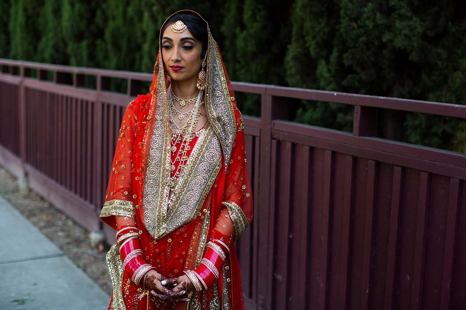 Indian Bride Portrait by San Mateo Wedding Photographer
