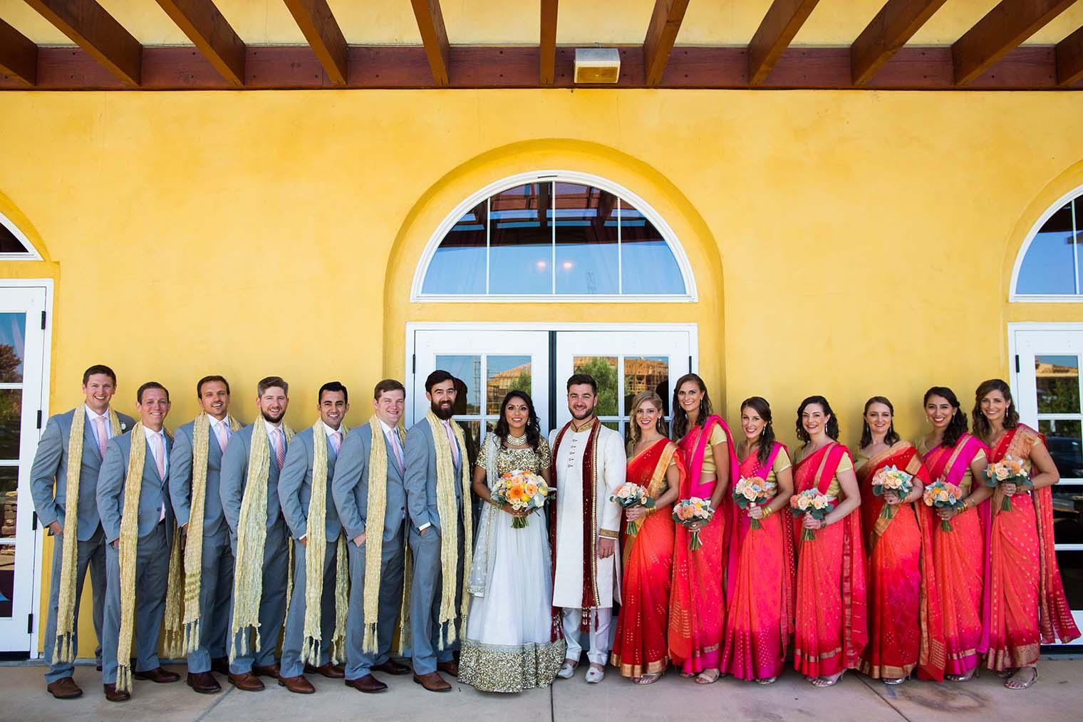 bridal party at meritage resort and spa