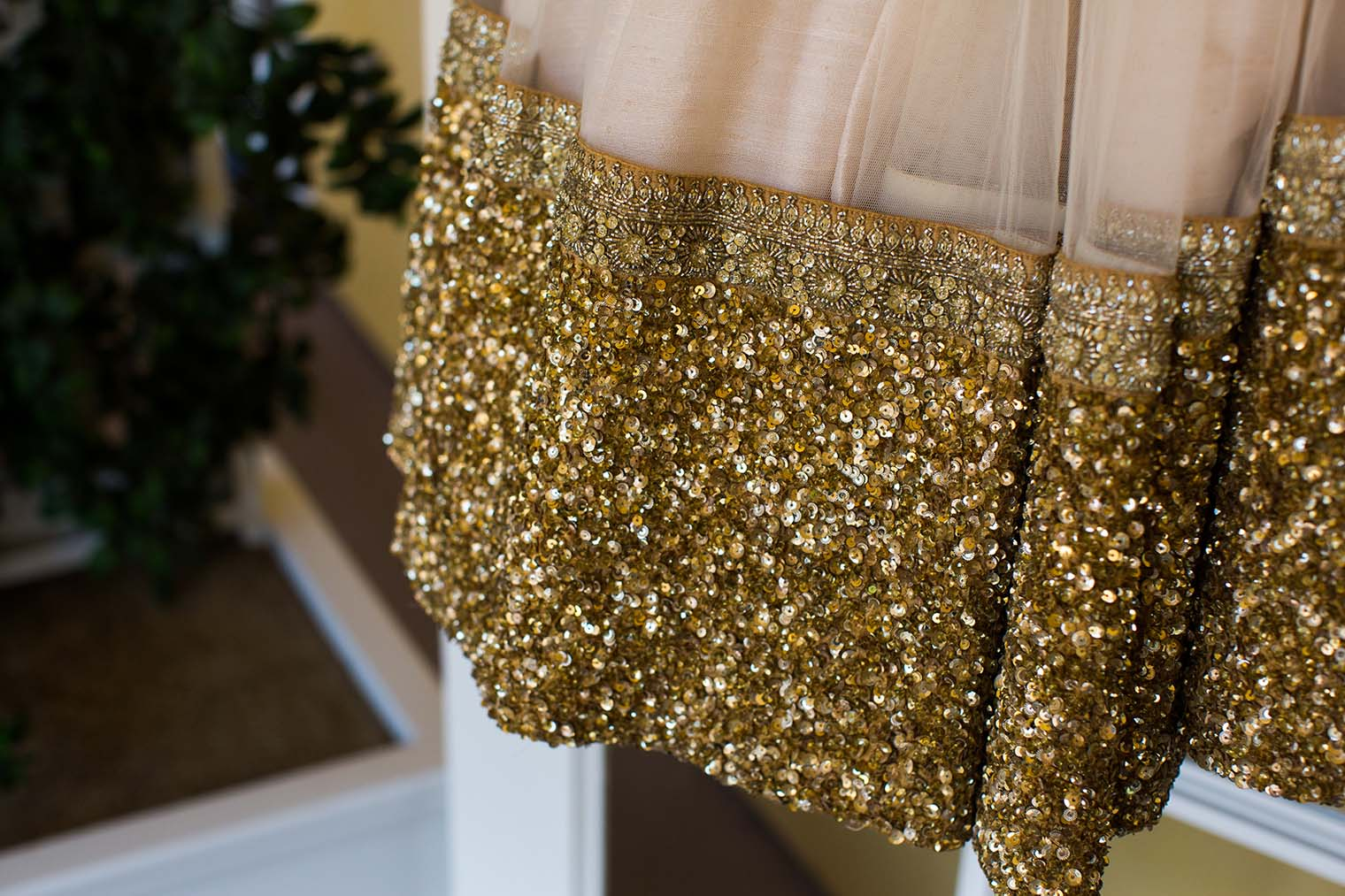 bride's dress at meritage resort and spa