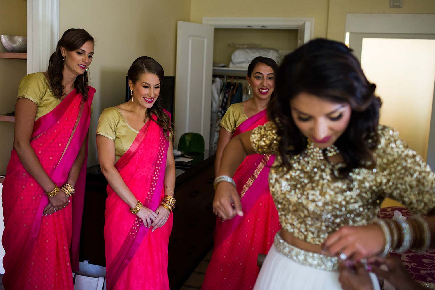 bride getting ready at meritage resort and spa
