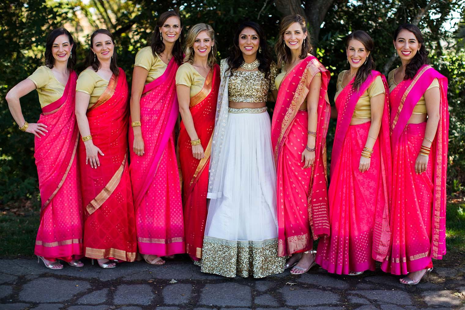 Bride and Bridemaids at Chardonnay Golf Club and Vineyards