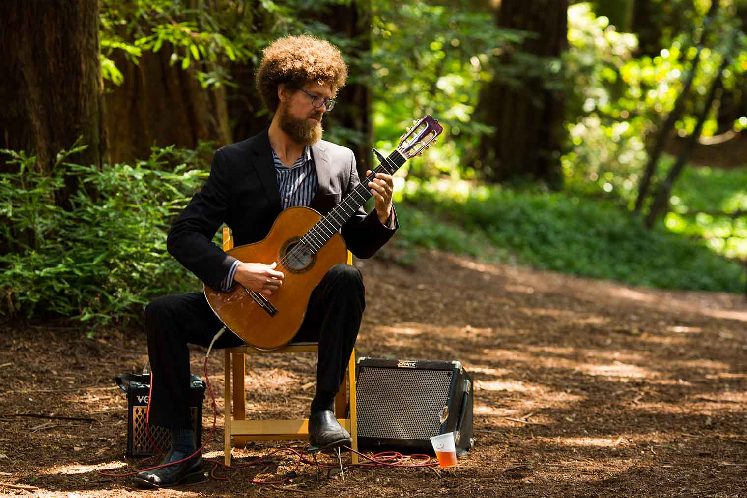 Musician at Roberts Regional Park Wedding in Oakland