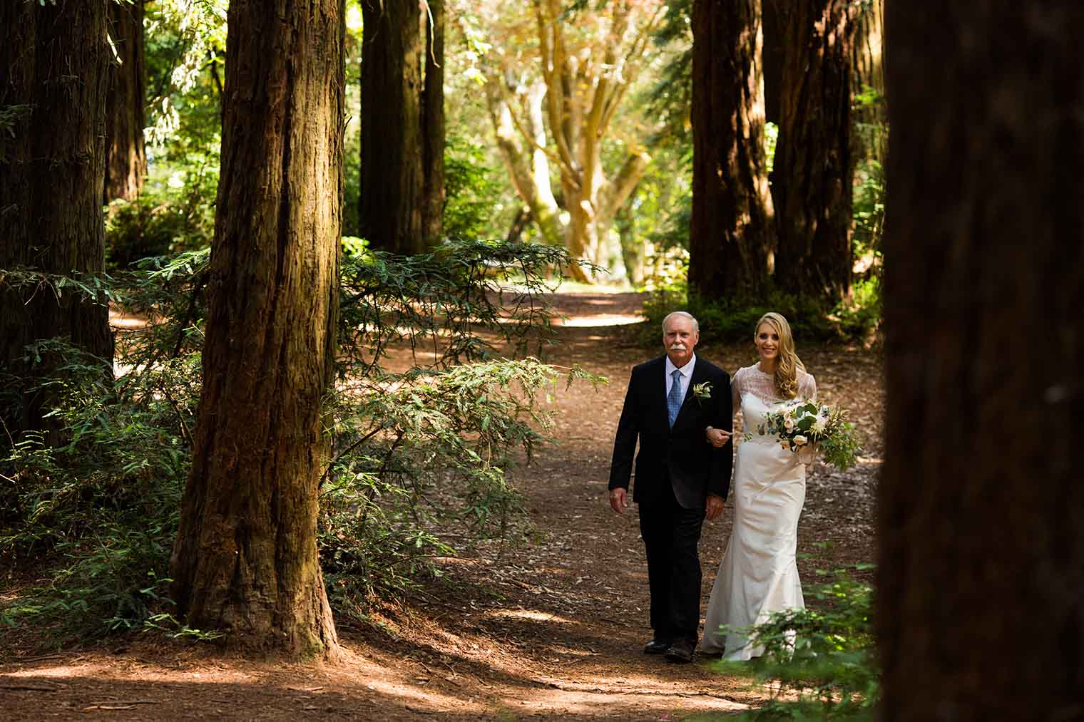 Wedding Ceremony at Roberts Regional Park in Oakland California
