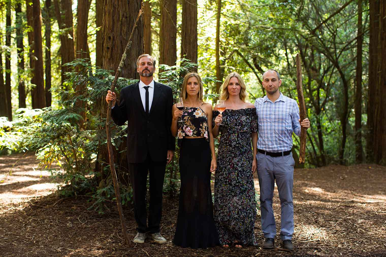 Wedding Guests Posed at Roberts Regional Park