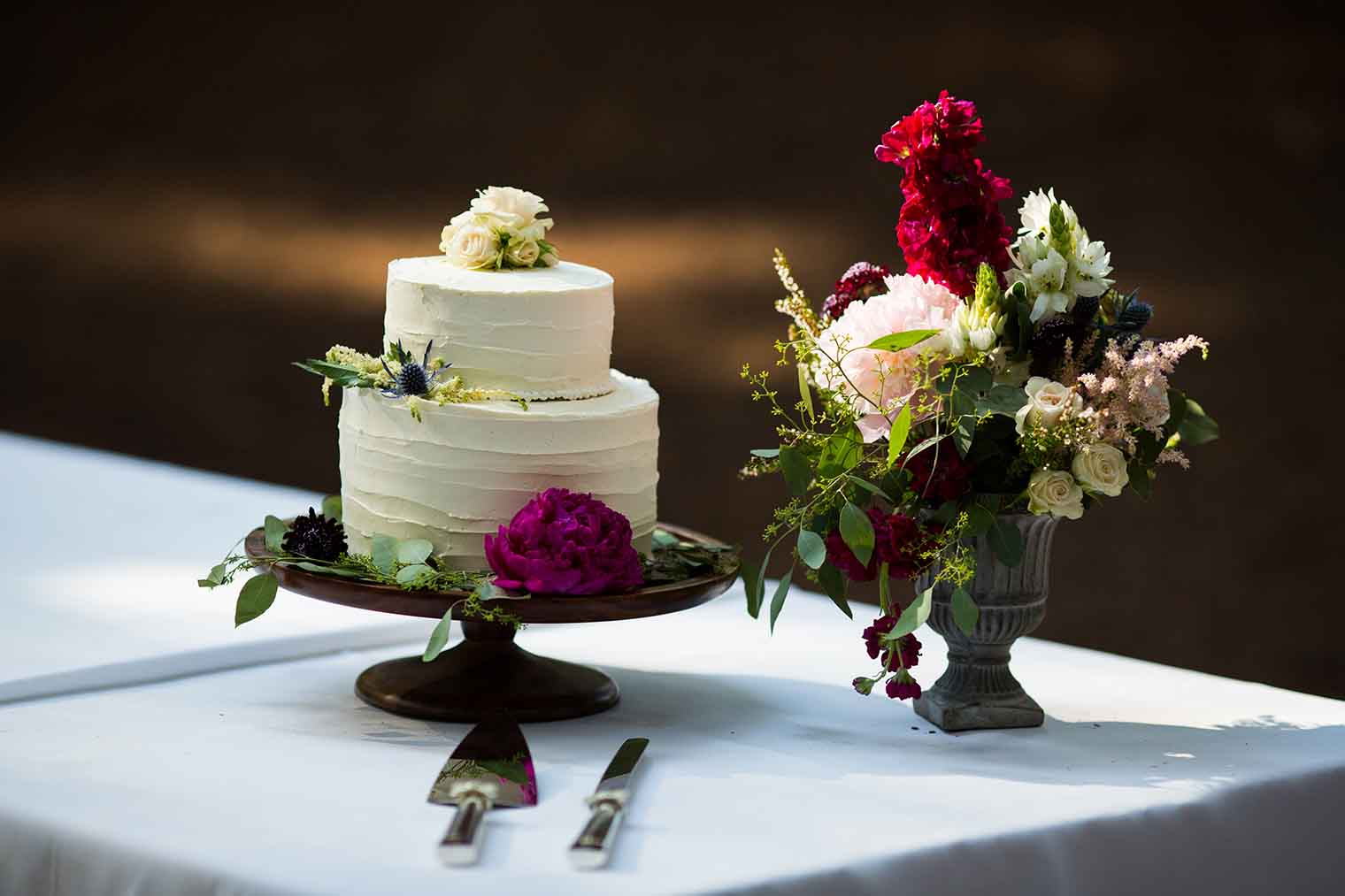 Wedding Cake at Roberts Regional Park in Oakland California