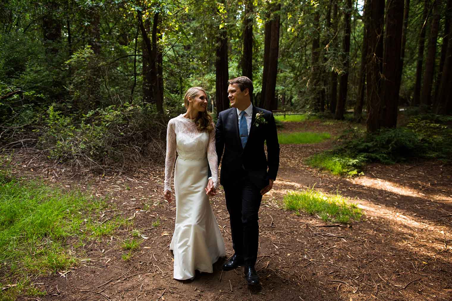 Wedding Couple Portrait at Roberts Regional Park