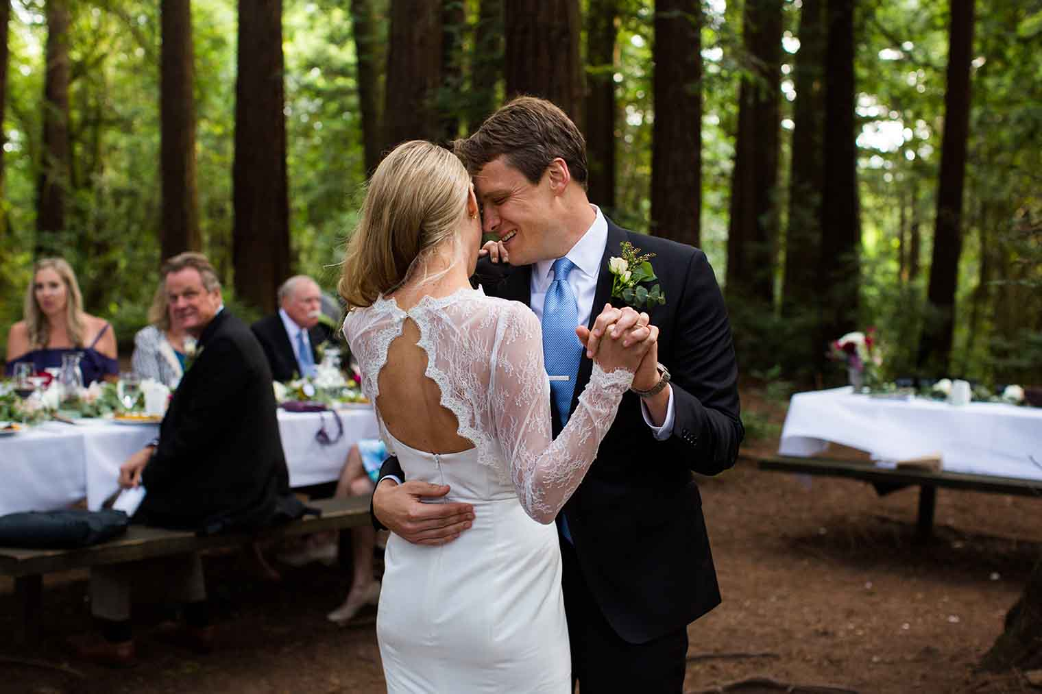 Bride and Groom First Dance at Roberts Regional Park