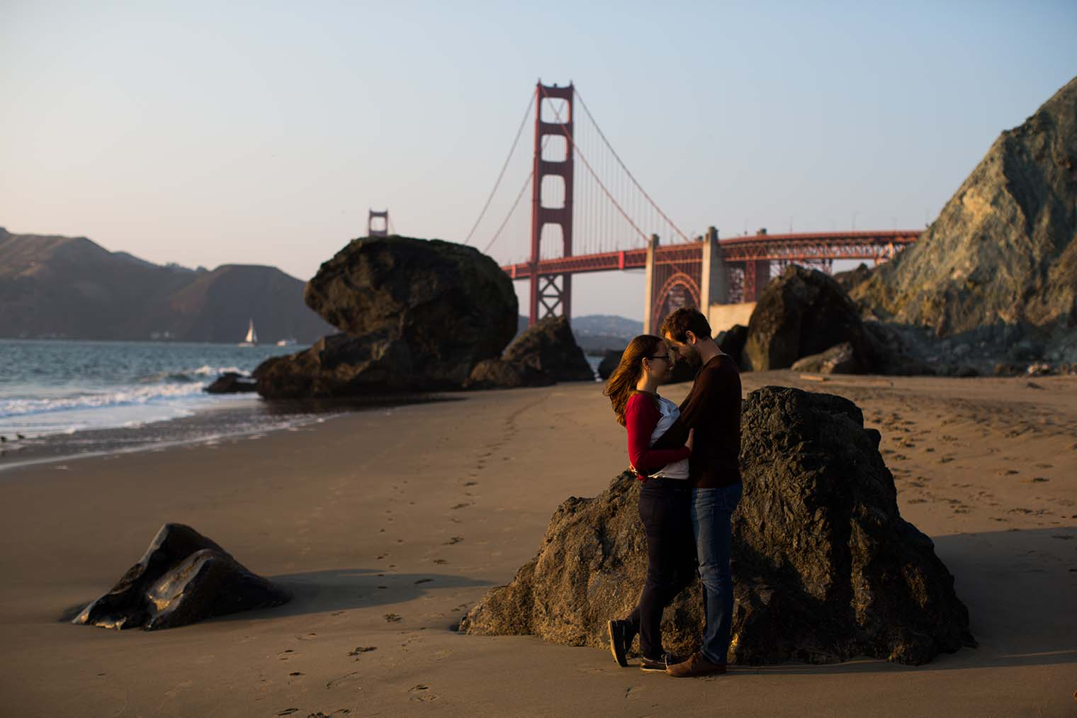 Marshall's Beach Engagement Photos by San Francisco Wedding Photography