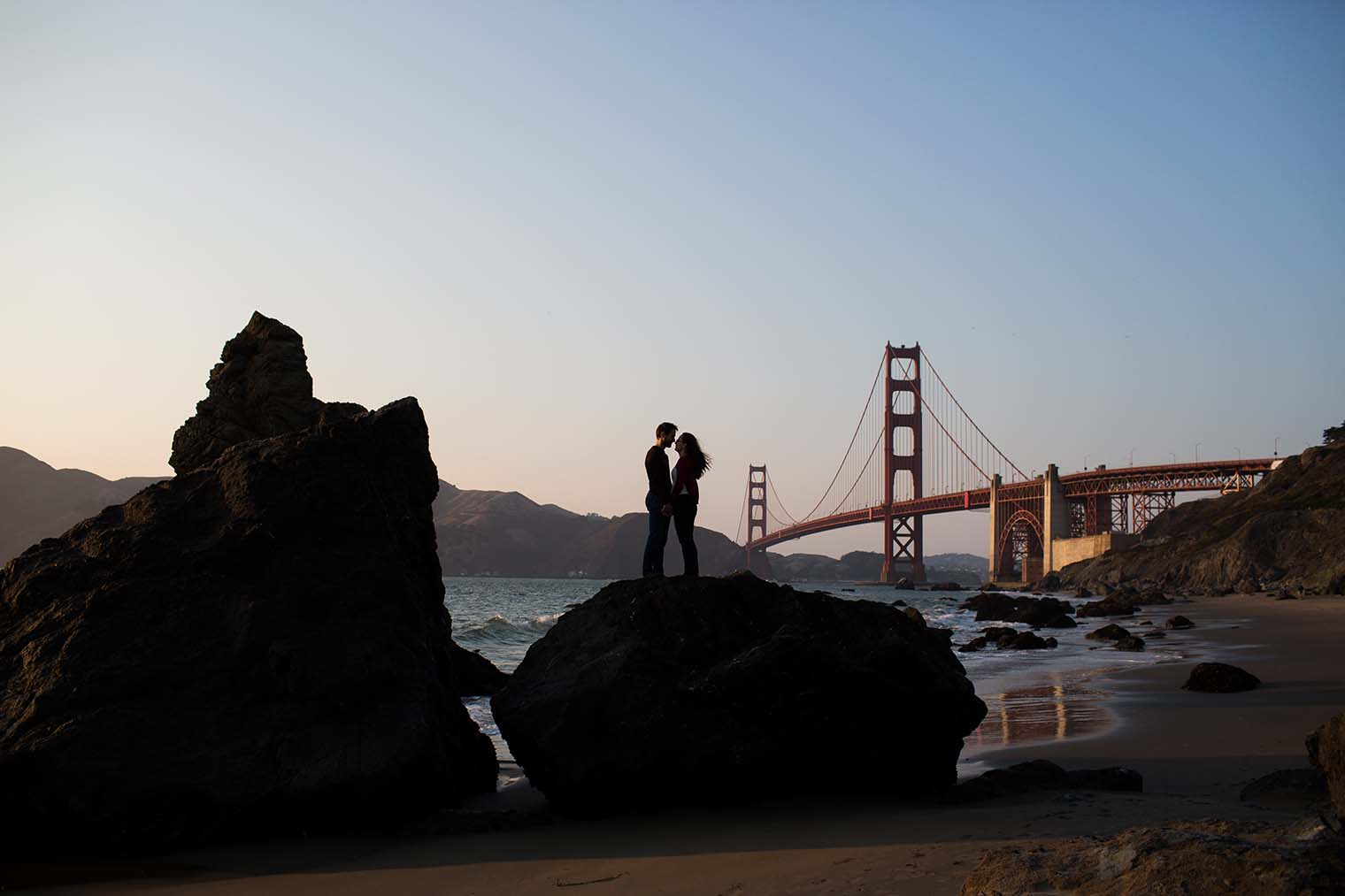 Marshall's Beach Engagement Photos by San Francisco Wedding Photographer