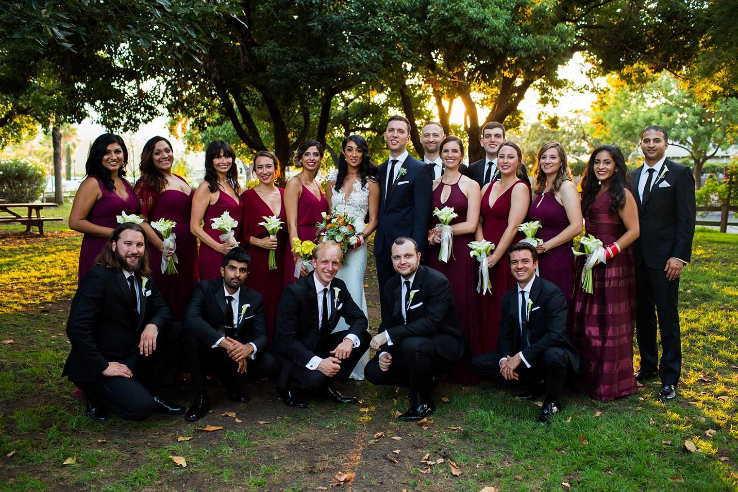 V. Sattui Winery Wedding Bridal Party Portrait