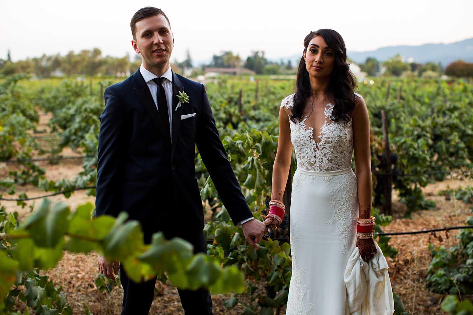 V. Sattui Winery Wedding Couple Portraits