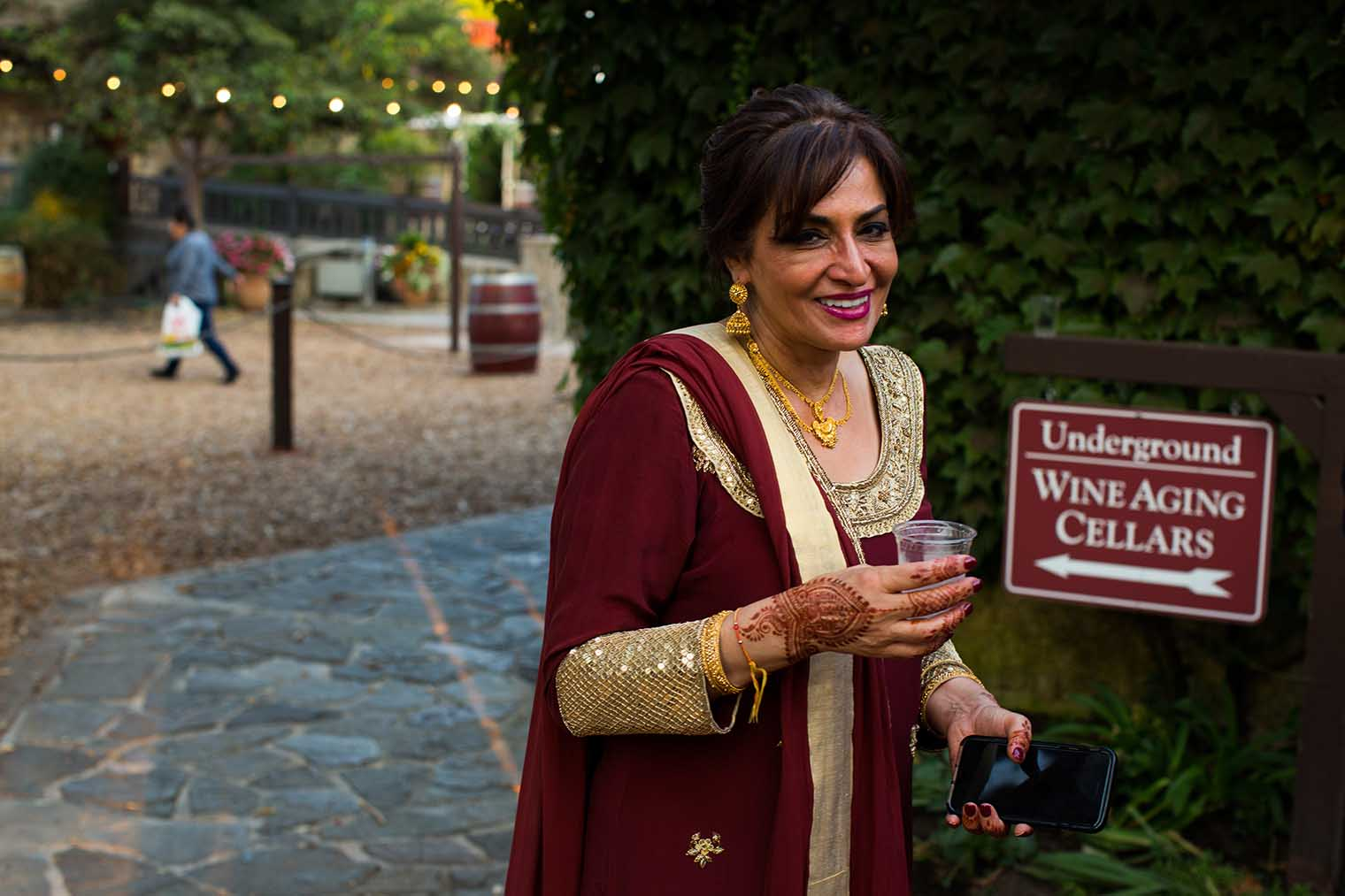 V. Sattui Winery Candid Photo at Wedding