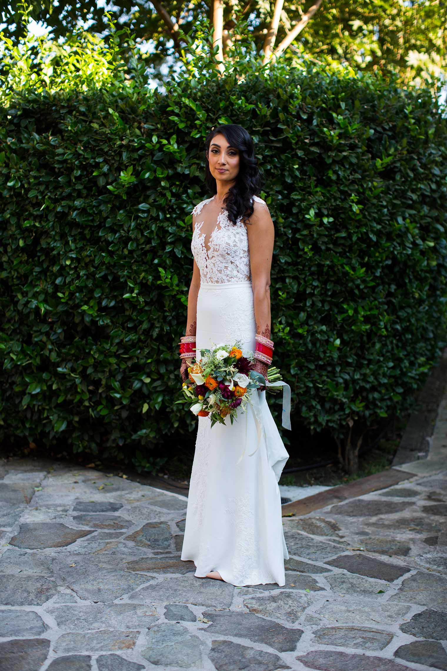 V. Sattui Winery Wedding Bride Portrait