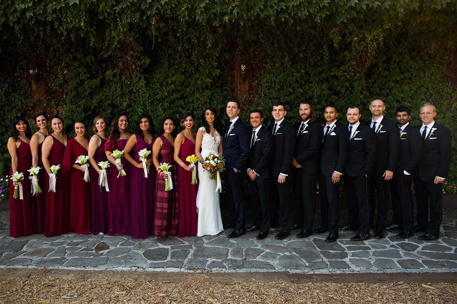 V. Sattui Winery Wedding Bridal Party