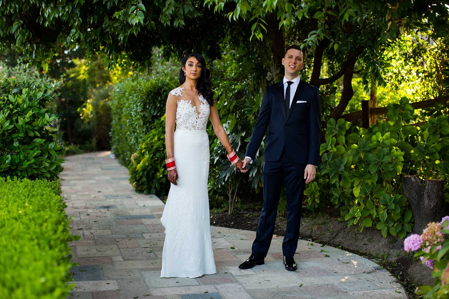 V. Sattui Winery Wedding Portraits of Bride and Groom