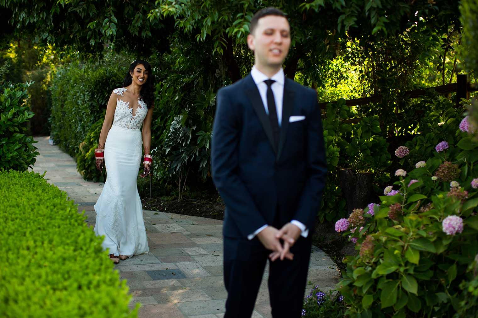 V. Sattui Winery Wedding First Look