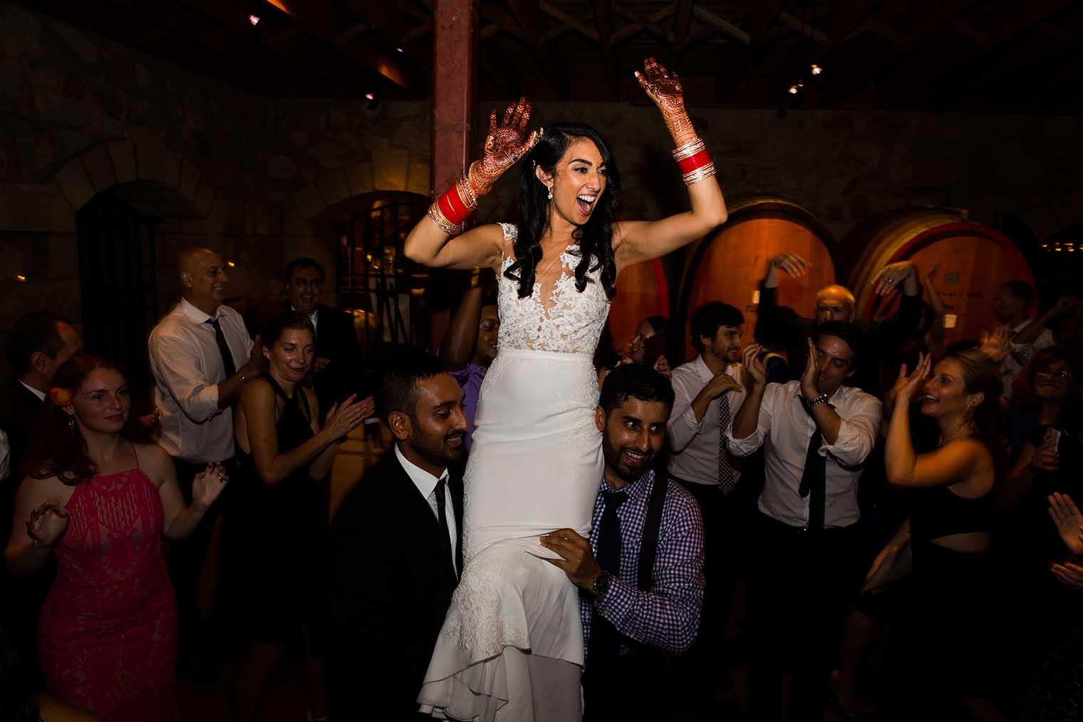 V. Sattui Winery Wedding Dancing Photos