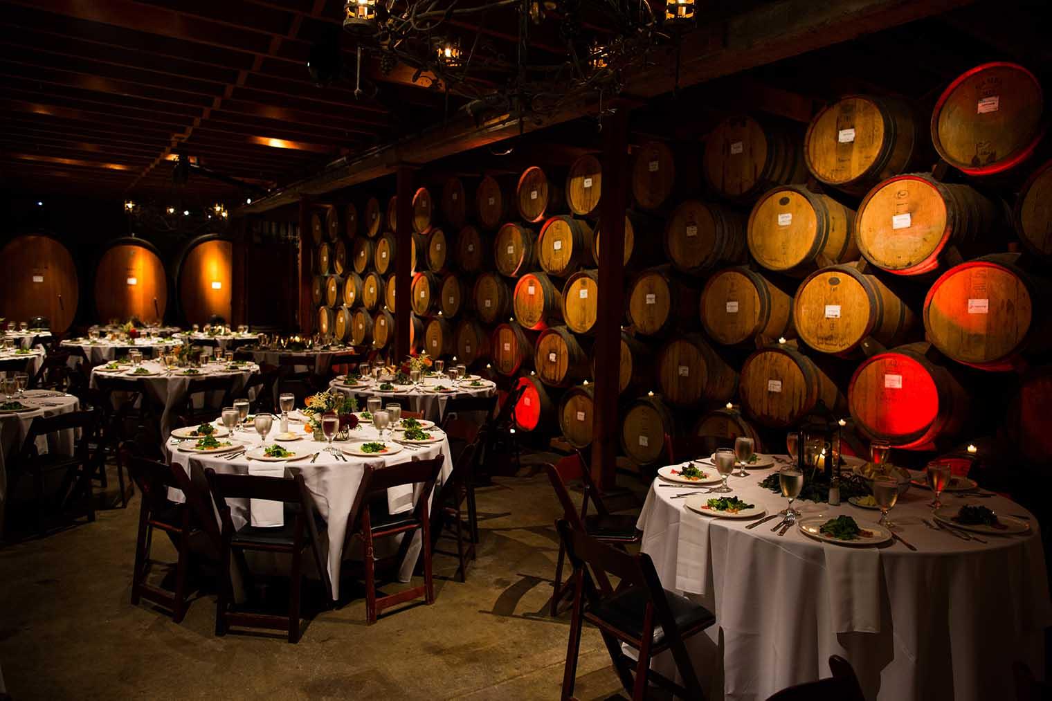 V. Sattui Winery Wedding Reception Details