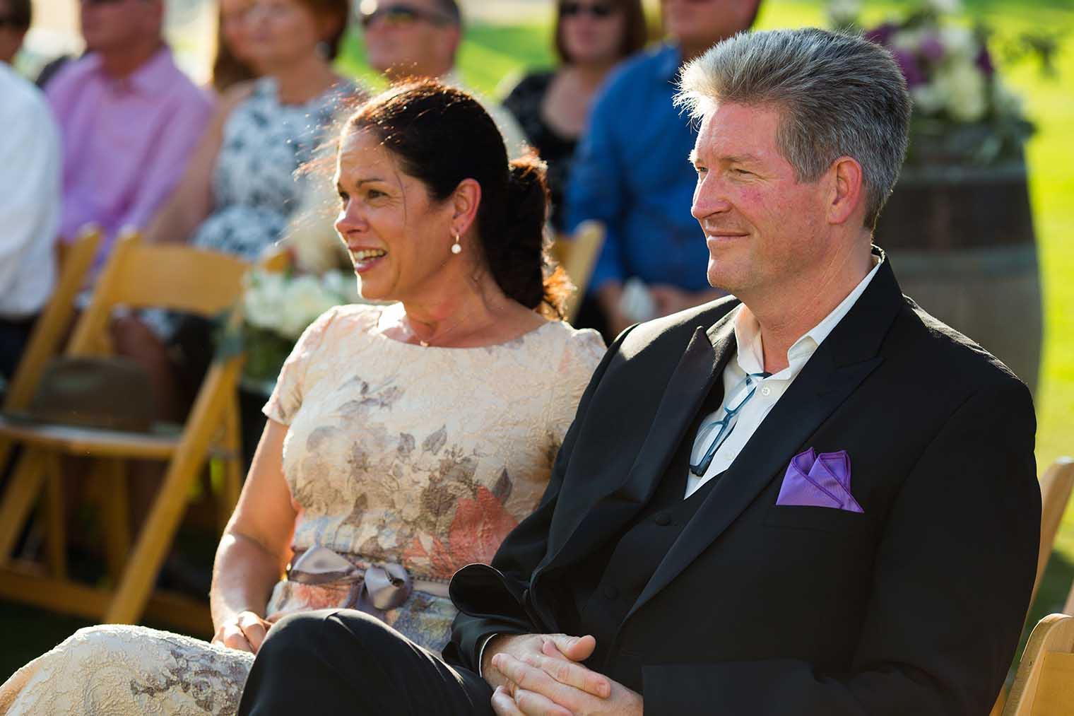 parents at farmstead at long meadow ranch wedding