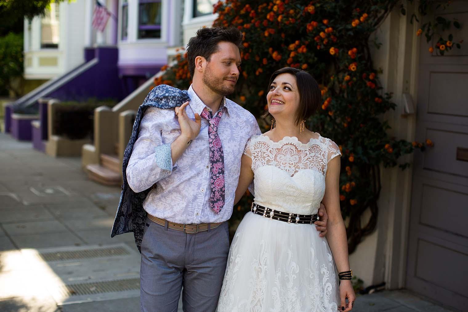 Wedding portraits taken in the Castro
