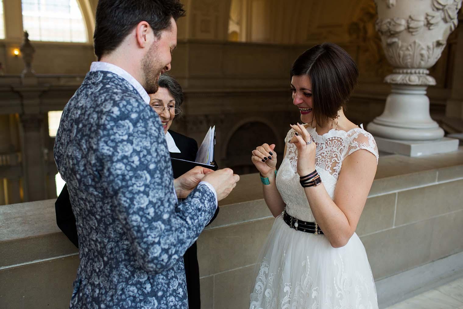 san francisco city hall wedding ceremony
