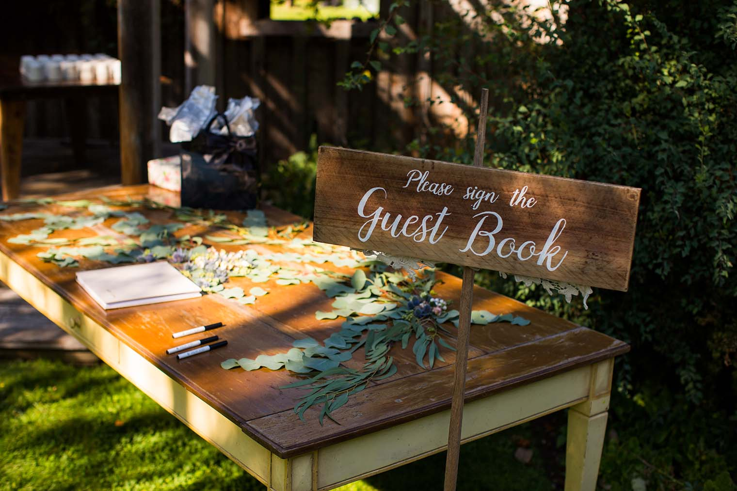 Guest Book Sign at Wild Iris Retreat