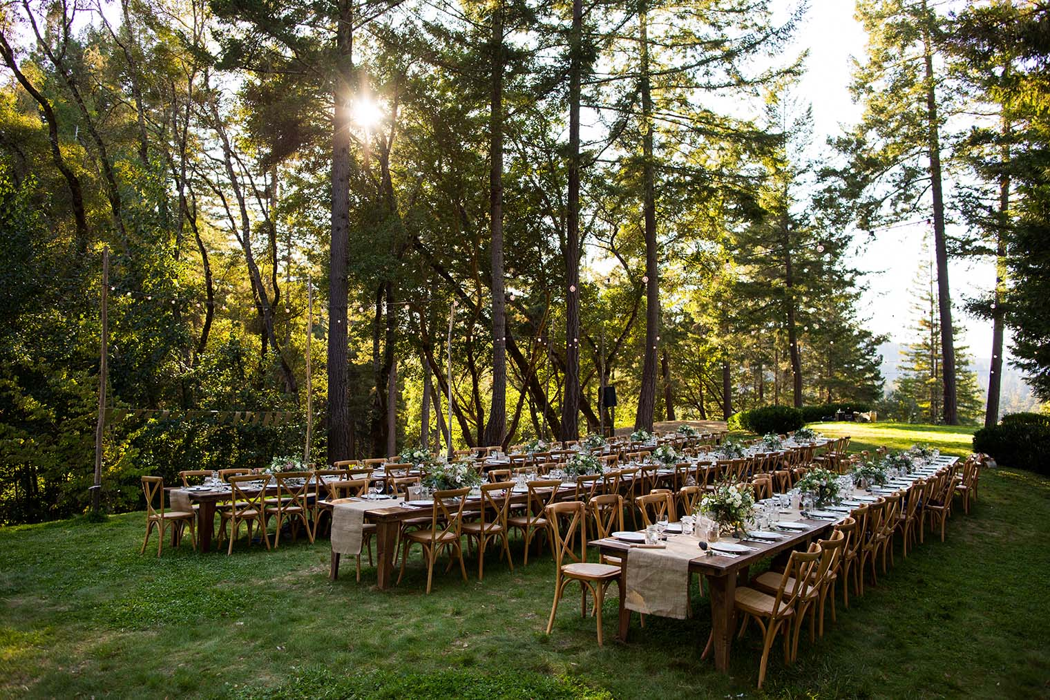 Wedding Reception at Wild Iris Retreat