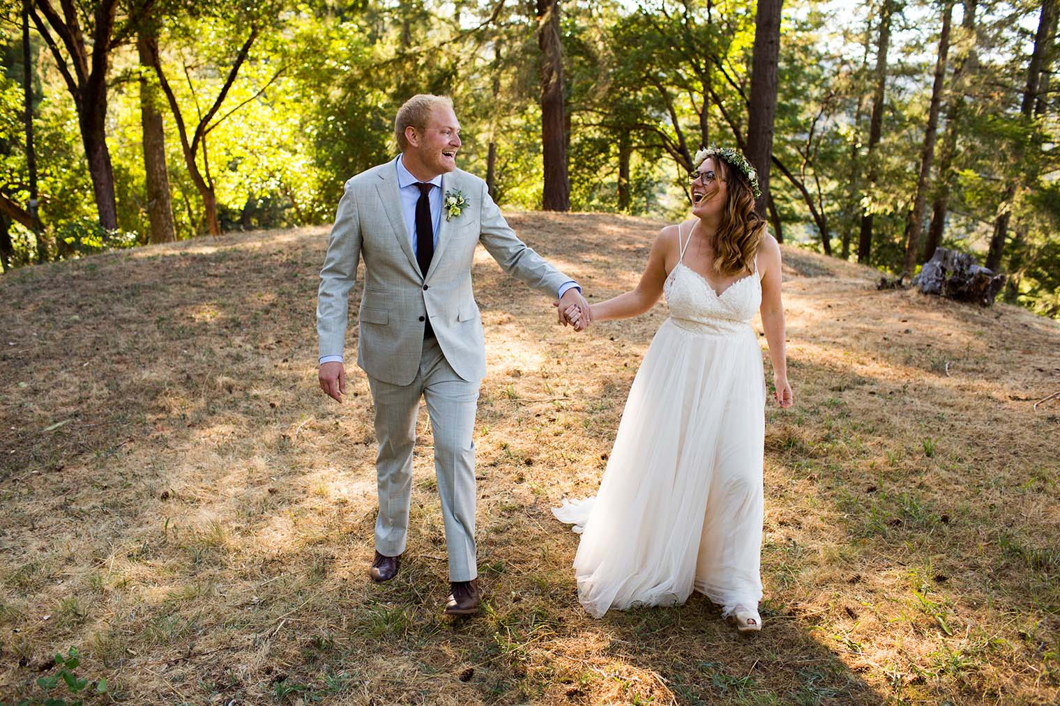 Bride and Groom Portraits at Wild Iris Retreat