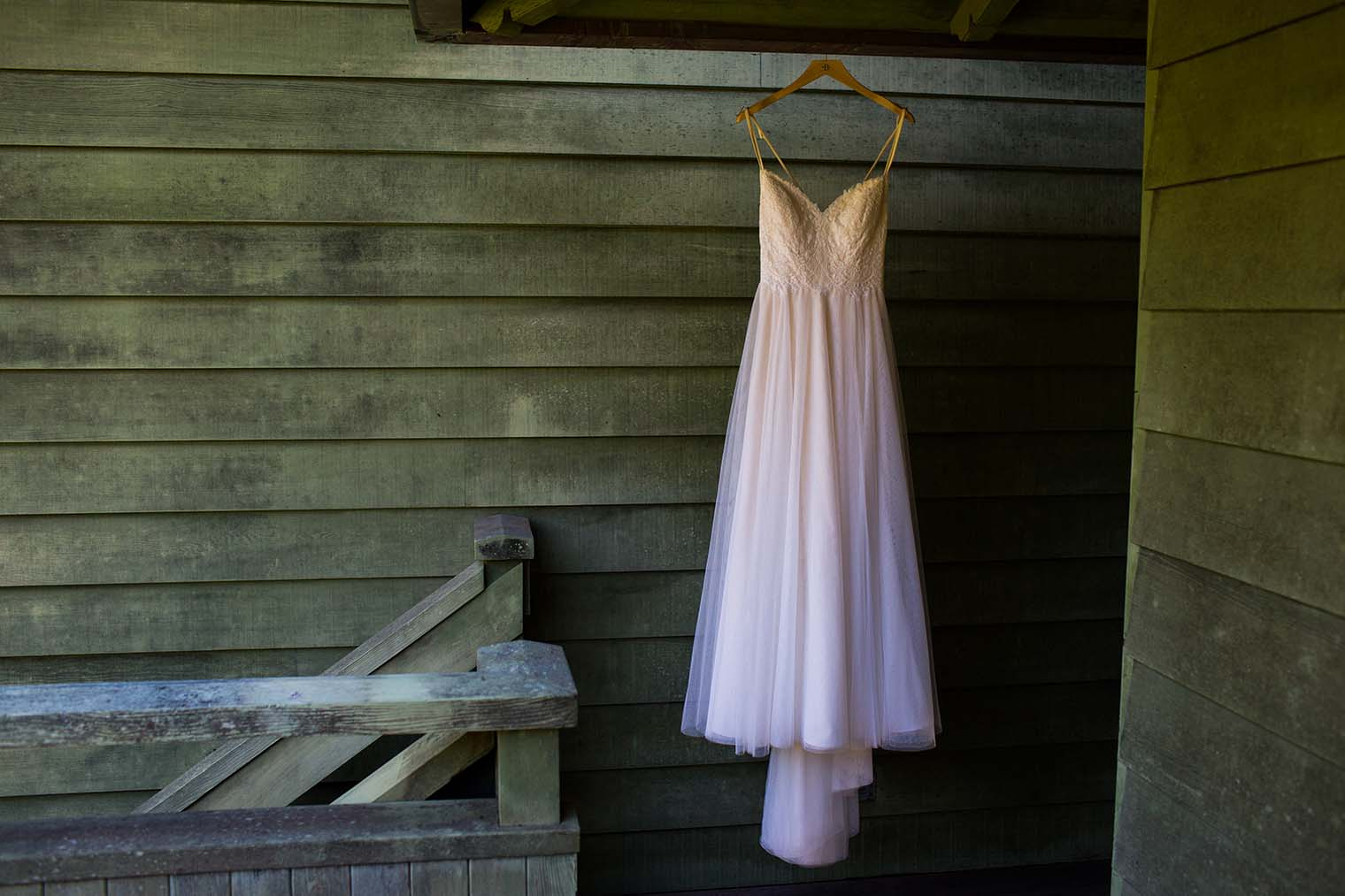Bride's Dress at Wild Iris Retreat