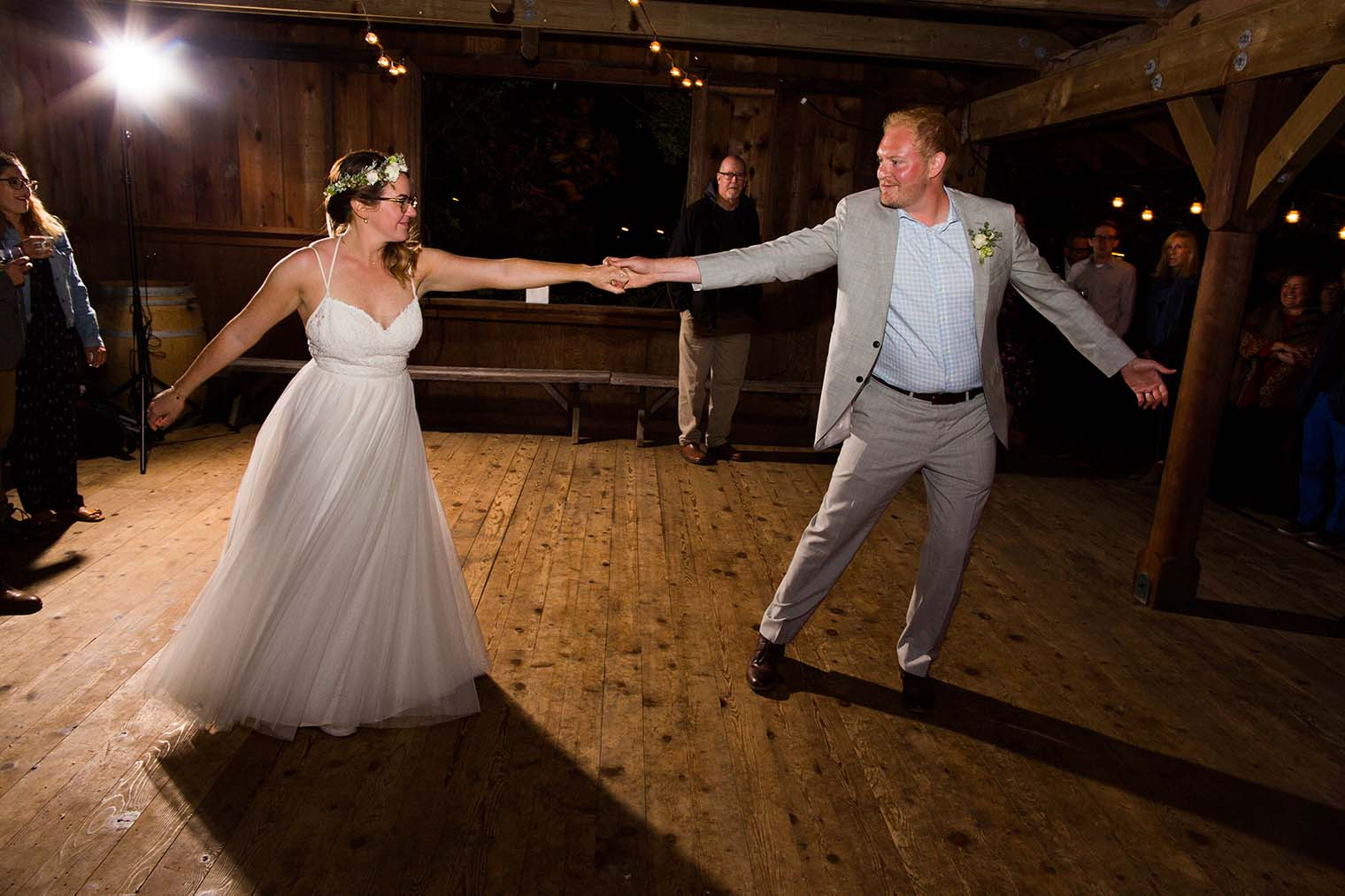 first dance at wild iris retreat wedding