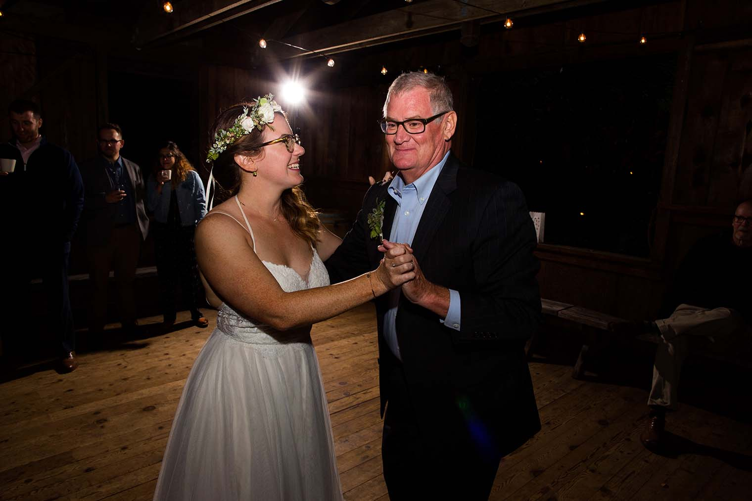 father daughter dance at wild iris retreat