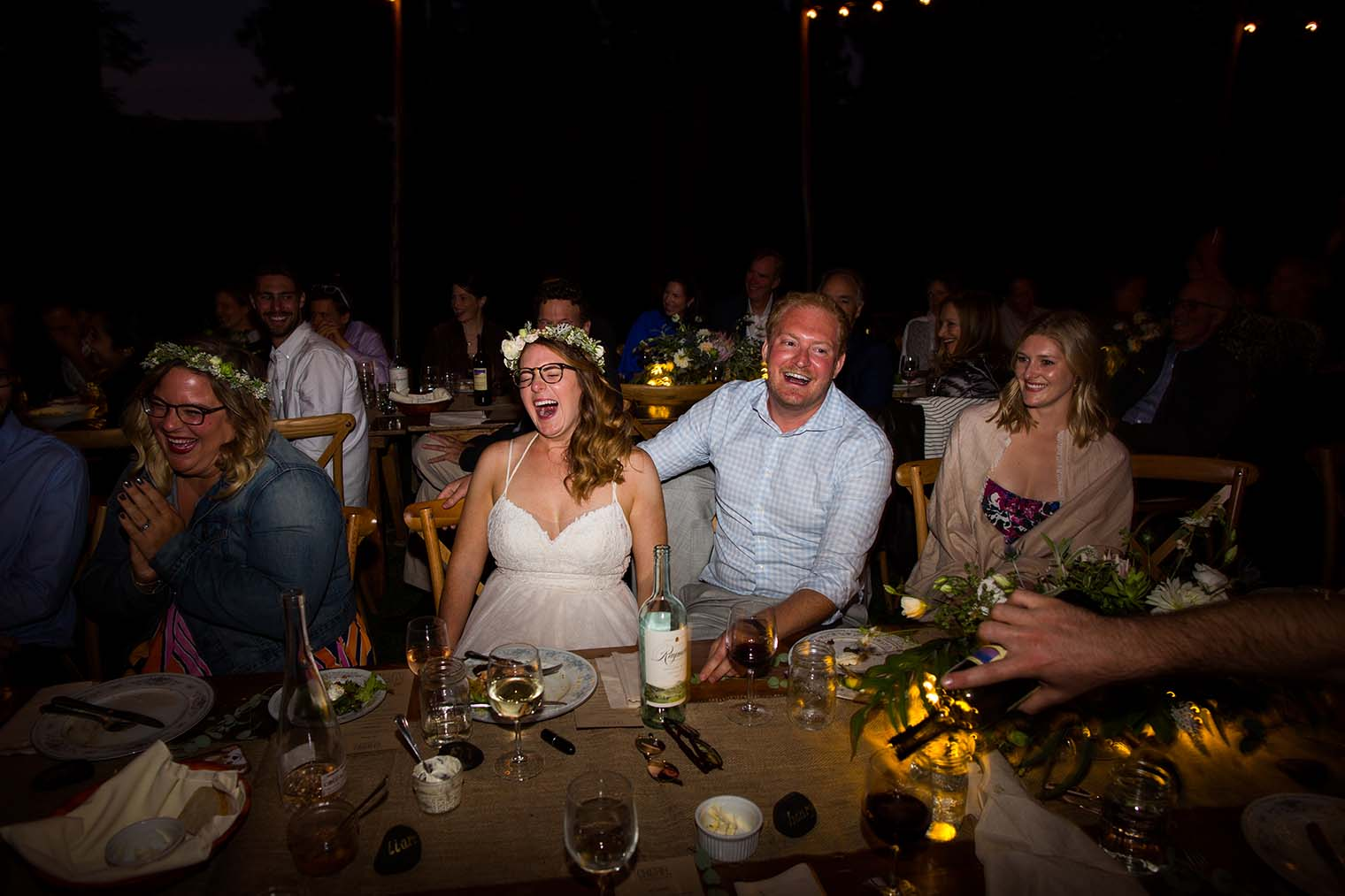 wedding speeches at wild iris retreat