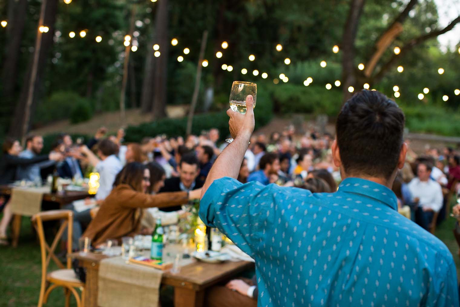 wedding toasts at wild iris retreat