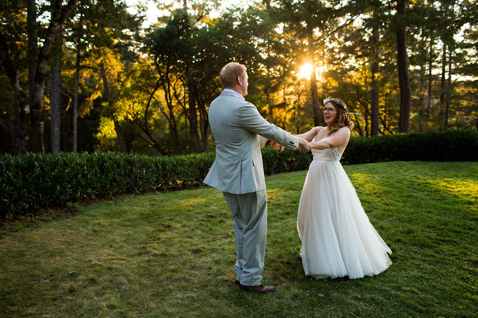 bride and groom photos at wild iris retreat